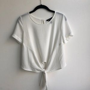 Forever 21 White Tee Shirt With Tie